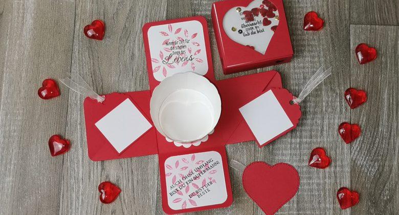 Explosionsbox, Valentinstag, Geschenk