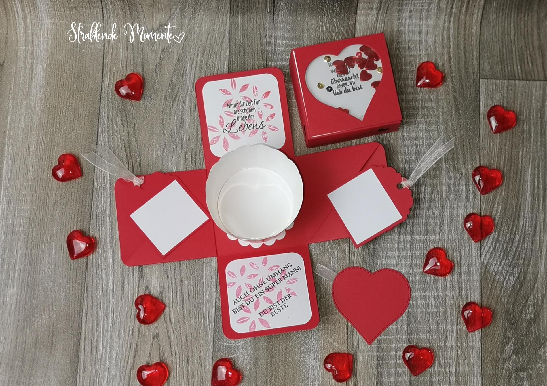 Explosionsbox zu Valentinstag