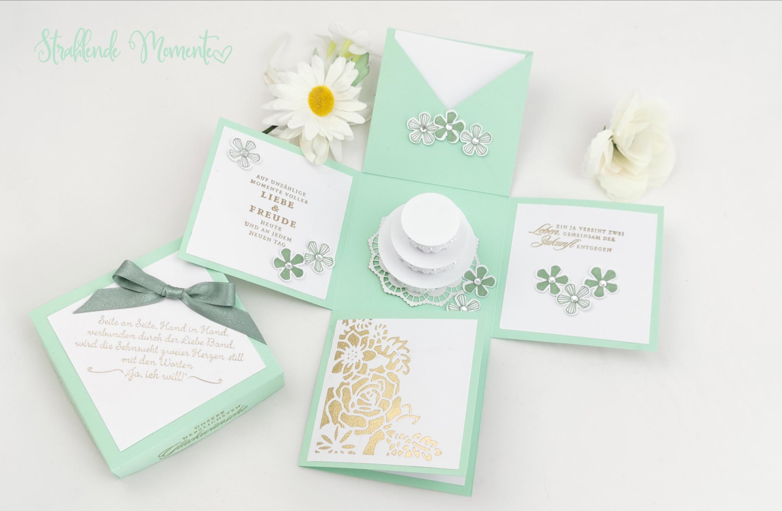 EXPLOSIONSBOX Hochzeit  mit neuen Produktsets aus dem Frühjahr/Sommer Katalog Stampin´ Up!