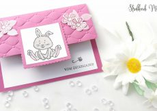 Fancy Fold Card, Ostern, Karte
