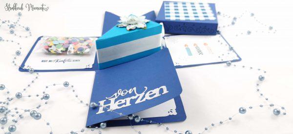 Geburtstag, Geschenk, Explosionsbox