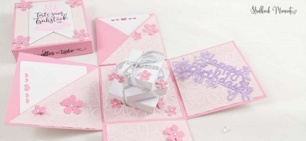 Geburtstag, Explosionsbox, Geschenk