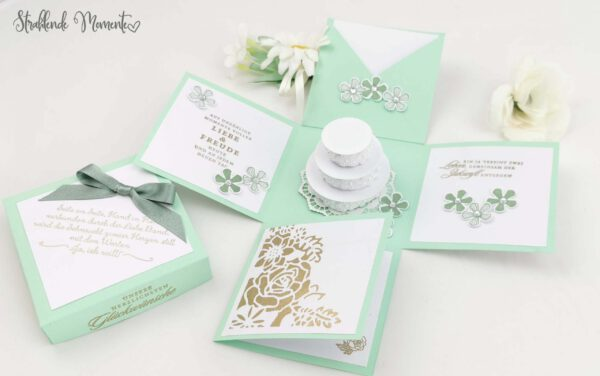 Hochzeit, Explosionsbox, Geschenk