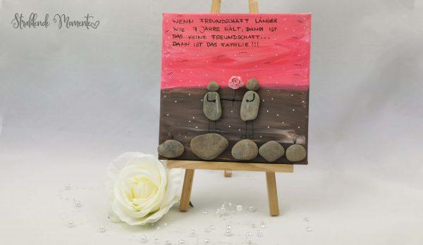 Leinwand, Freundschaft, Steine