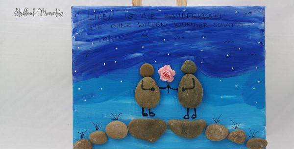 Leinwand, Liebe, Steine