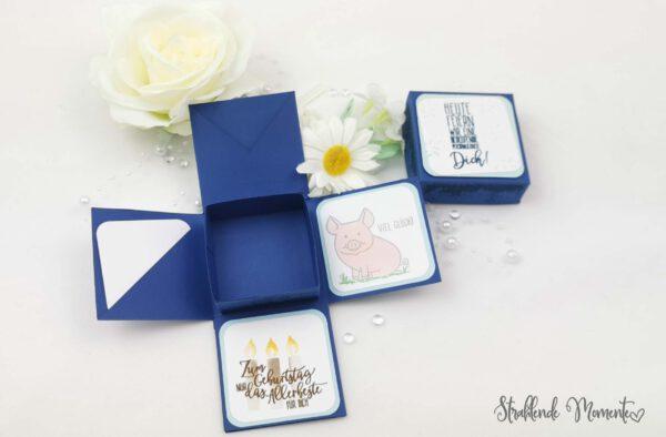 Explosionsbox, Geburtstag, Geschenk, Freude, Geldgeschenk
