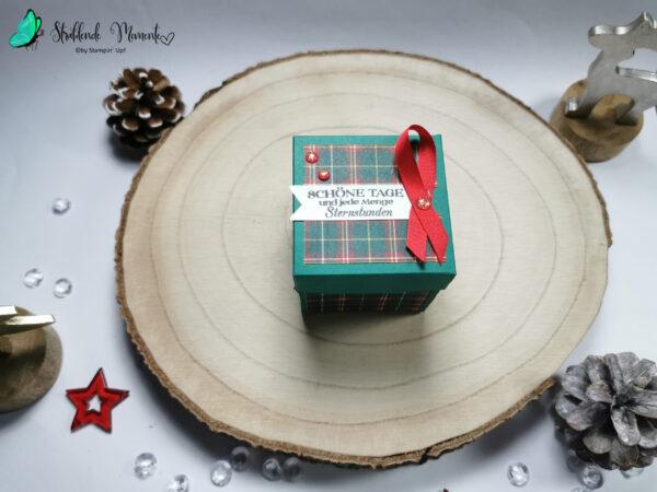 Explosionsbox, Weihnachten, Weihnachtsmann, Stampin´ Up!