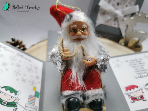 Explosionsbox, Weihnachten, Weihnachtsmann, Stampin´ Up